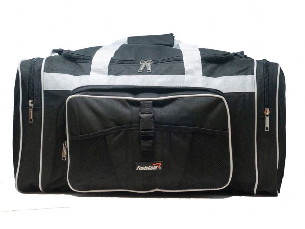 Large 50L foolsGold® Sports Holdall Bag - Black/White